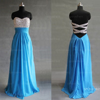 Blue prom dresses, prom dresses 2014, dresses for prom, long prom dresses, cheap prom dresses, bridesmaid dress, evening dresses, RE322