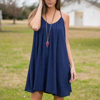 The Ann Dress, Navy