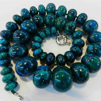 Azurite Phoenix Bead Necklace