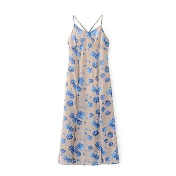 The stars fashion floral print dress down the wind
