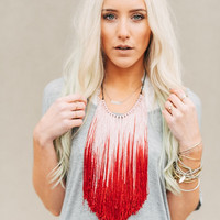 Fringed Neckpiece Ombré Necklace