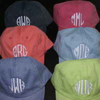 Ladies' Monogrammed Baseball Cap  by MadAboutMonograms on Etsy