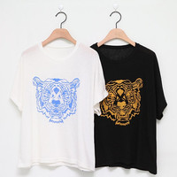 Big Tiger printed t shirt(vintage embroidered unique men boy girl women unisex)