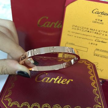 Cartier 18K Rose Gold Love Bracelet Size 17 Bangle