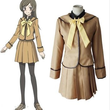 Kamisama Love / Kamisama Kiss Cosplay Costume Kamisama Hajimemashita Momozono Nanami School Uniform (Top+ Shirt+ Skirt+ Bow tie)