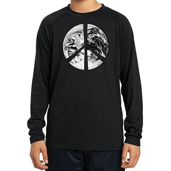 Buy Cool Shirts Kids Peace Shirt Earth Satellite Symbol Dry Wicking Long Sleeve