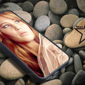 jennifer lawrence iPhone Case, iPhone 4/4S, 5/5S, 5c, Samsung S3, S4 Case, Hard Plastic and Rubber Case By Dsign Star 08
