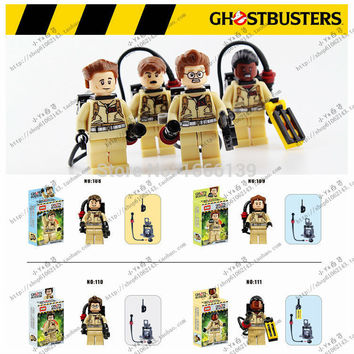2016 new Baby Toys ghostbuster minifigures DIY building block Bricks figures classic toys Educational Toys Compatible with lego 80's