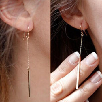 New fashion jewelry alloy Bars drop dangle earring  gift for women girl