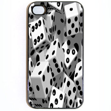 iPhone 4 Case Dice Hard iPhone Case Comes in Black by KustomCases