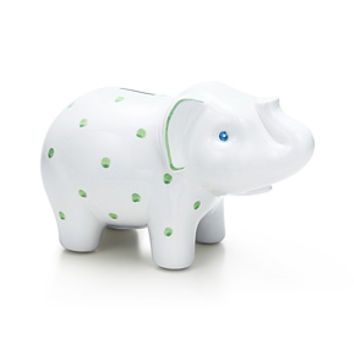 Tiffany & Co. -  Elephant bank in earthenware.