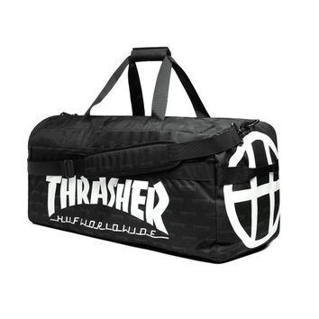 HUF - HUF X THRASHER DUFFEL BAG // BLACK