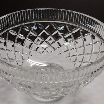 Signed Waterford pedestal bowl