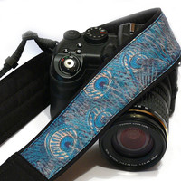 Peacock Camera Strap, Blue Green Camera Strap, Nikon, Canon, Mirrorless Camera Strap, Women Accessories