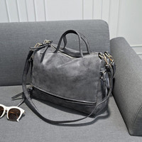women's shoulder bag  nubuck leather vintage messenger bag motorcycle shoulder bags  women's bag