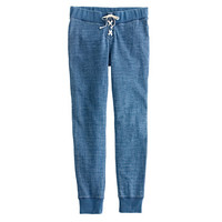 J.Crew Womens Indigo Lace-Up Sweatpant