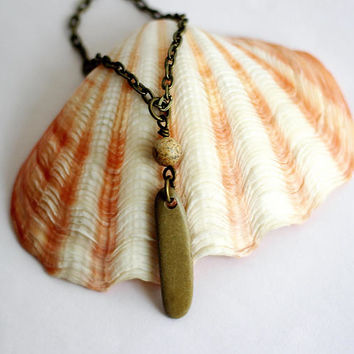 River Rock Necklace Natural Beach Stone Wire Wrapped Pendant Jas 5ca631c6b3