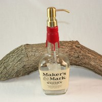 Soap/Lotion Dispenser Upcycled from Maker's Mark Liquor Bottle