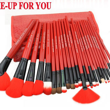 24 Pcs Makeup Brush Set-4 Colors