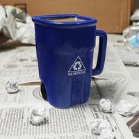 Pottery Innovative Mug Rubbish Bin [8997116876]
