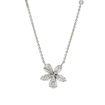 Flowers of Love Necklace in 18k White Gold