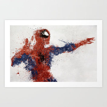 Spiderman Art Print by Melissa Smith