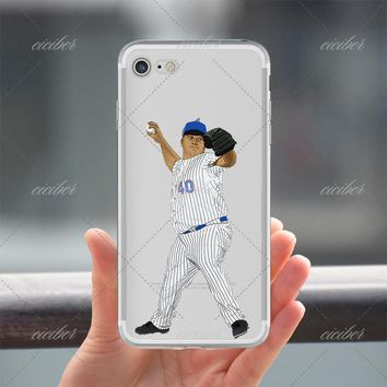 Pitching Baseball Clear Phone Case for ALL iPhone 7 7Plus 6 6s Plus 5 5s SE