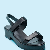 Teela-12 So Grounded Lug Platform Sandal