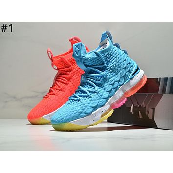 Nike Lebron 15 James 15th generation atmospheric cushion tide brand basketball shoes boots