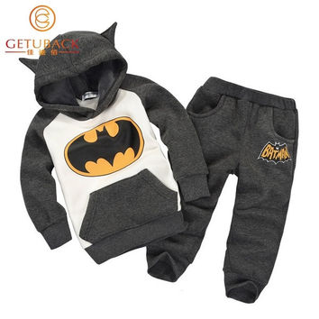 Baby Girls & Boys Batman Clothing Sets Spring & Autumn Children Twinsets 12m-3t = 1927820228