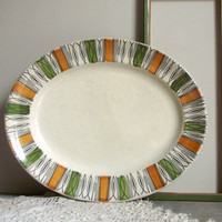 Kathie Winkle Platter / Ironstone Serving Plate / Broadhurst Viscount Pattern / Mid Century Modern 1960s Decor