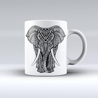 The Sacred Ornate Elephant ink-Fuzed Ceramic Coffee Mug