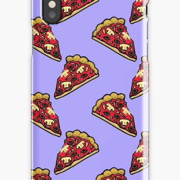 'Pizza at pastel purple background' iPhone Case by cool-shirts