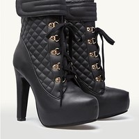 Platform Quilted Boots
