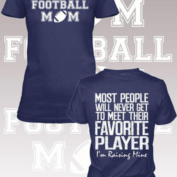 Football Mom Favorite Player Shirt. Football mom. Football Mom Shirt. Women's shirt. Sports mom. Mom Shirt. Mother's Day. Gift. Sports