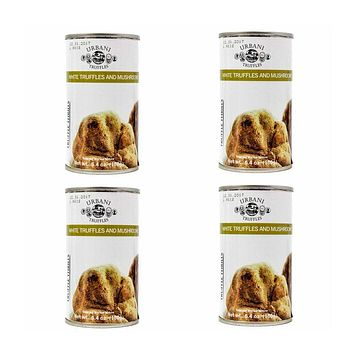 4 Pack Urbani White Truffles and Mushrooms Sauce 6.4 oz. (180g)