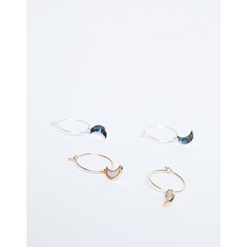 Moon Magic Dainty Hoops