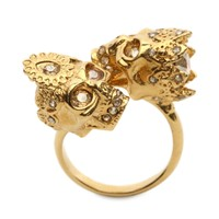 Queen And King Skull Ring Alexander McQueen | Ring | Jewelry |