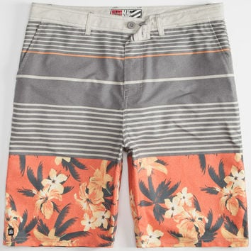 Micros Zooma Mens Hybrid Shorts - Boardshorts And Walkshorts In One Coral  In Sizes
