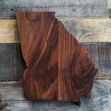 Handmade Georgia Cutting Board Wood Cutting Board