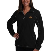 Antigua Chicago Blackhawks Ladies Fleece Ice Full Zip Jacket - Black