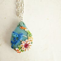 Unique necklace, Stunning  Hummingbird Jewel