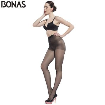 BONAS Summer Style Cheap Tights Women Solid Color Hosiery Nylon Pantyhose Women's Fashion Elasticity Spandex Resistant Tights