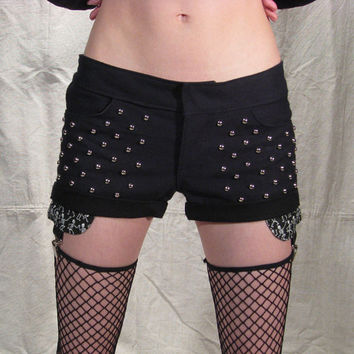 Studded Shorts with Garter Clip Pockets