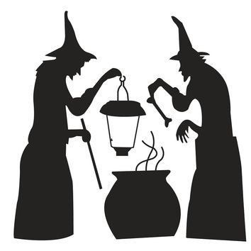 New Kids Room Decoration for Halloween Witch Cooking Wall Stickers