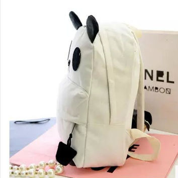 On Sale College Back To School Comfort Hot Deal Casual Winter Stylish Korean Panda Cartoons Backpack [6583210887]