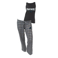 Carolina Panthers Pajama Pants and Tank Top Set