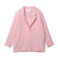 Poly Blend Rayon Two-Button Blazer
