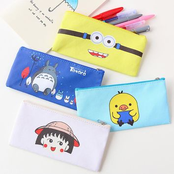 cartoon large capacity of primary and middle school students and children's creative cortex pen pencil case pencil box bag