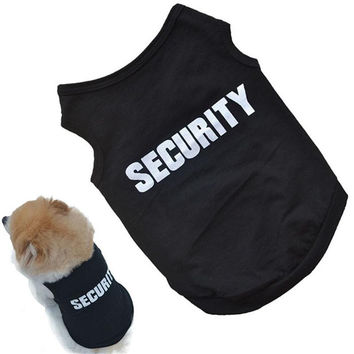 Funny Stylish SECURITY Black Dog Vest